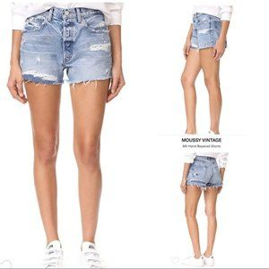 Moussy Highly Distressed Cut Off Jean Shorts NWT